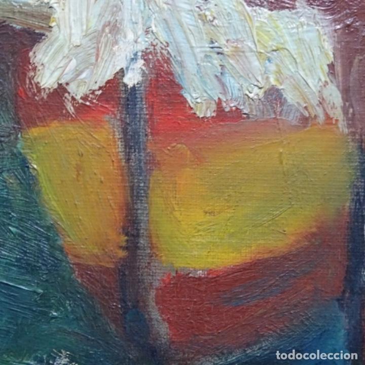 Arte: Oleo expresionista sobre tela de firma ilegible. - Foto 11 - 182805435
