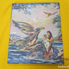 Arte: CUADRO OLEO FIRMADO ' MANUEL CASTELIN ' Y DEDICATORIA 2001 A OFTALMOLOGO DE VIGO 46X+38CM INFO. Lote 182807871