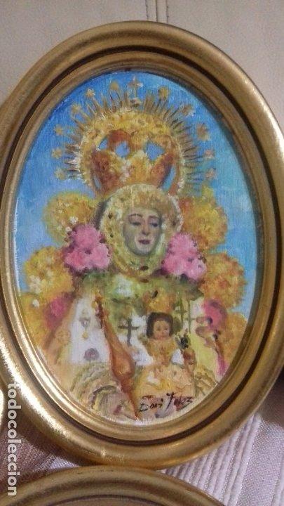 Arte: PINTURAS EN OVALOS DE MADERA Y PAN DE ORO. EL ROCIO. 21X16 Y 15X12,3. - Foto 13 - 158980642