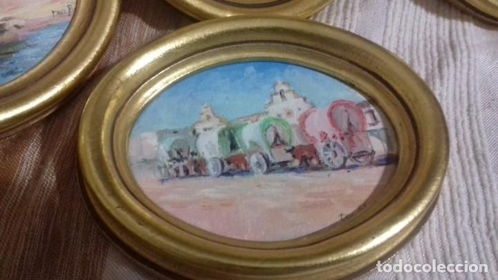 Arte: PINTURAS EN OVALOS DE MADERA Y PAN DE ORO. EL ROCIO. 21X16 Y 15X12,3. - Foto 15 - 158980642