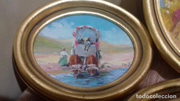 Arte: PINTURAS EN OVALOS DE MADERA Y PAN DE ORO. EL ROCIO. 21X16 Y 15X12,3. - Foto 16 - 158980642