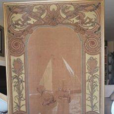 Arte: JOSE MONGRELL. PINTOR . VALENCIA. PESCADORAS .OLEO SOBRE TAPIZ. ORIGINAL. GRAN TAMAÑO. FIRMADO.. Lote 182843521