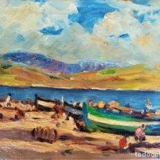 Arte: PINTURA CATALANA,SIGLO XX,PAISAJE DE MALLORCA O COSTA BRAVA,DE JOAQUIN-JOAQUIM TERRUELLA,MARINA,. Lote 182871396