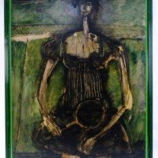 Arte: ÁNGEL MURIEL (CÁCERES, 1948) ÓLEO SOBRE TÁBLEX TENISTA FIRMADO . Lote 182903555