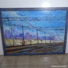 Arte: ENORME ÓLEO ANÓNIMO DE BUEN TRAZO.BIEN ENMARCADO.. Lote 182911028