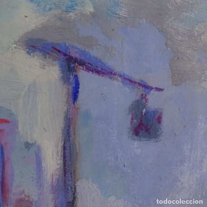 Arte: Enorme óleo anónimo de buen trazo.bien enmarcado. - Foto 12 - 182911028