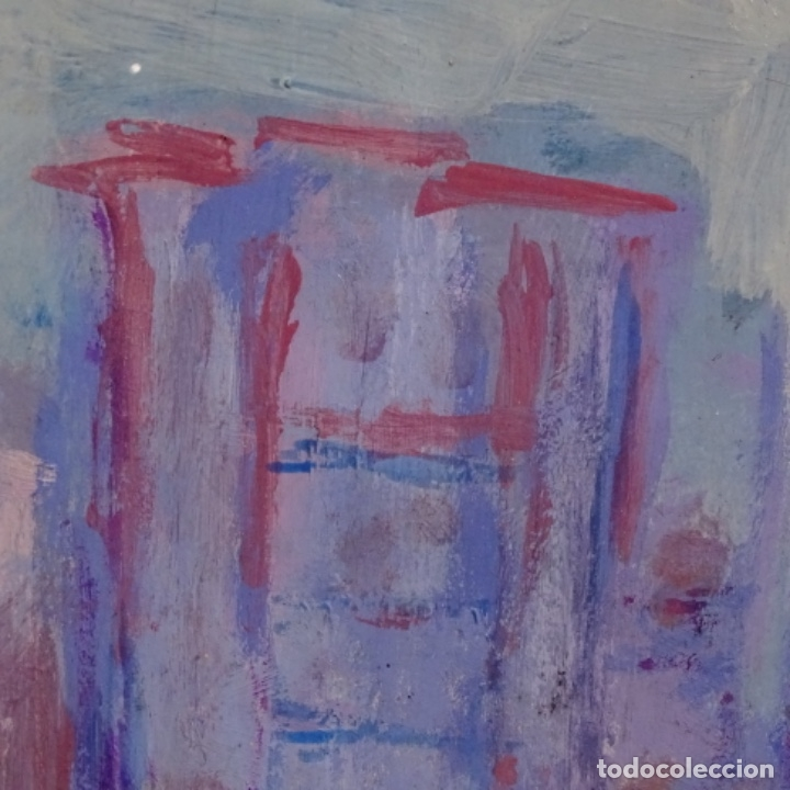 Arte: Enorme óleo anónimo de buen trazo.bien enmarcado. - Foto 13 - 182911028