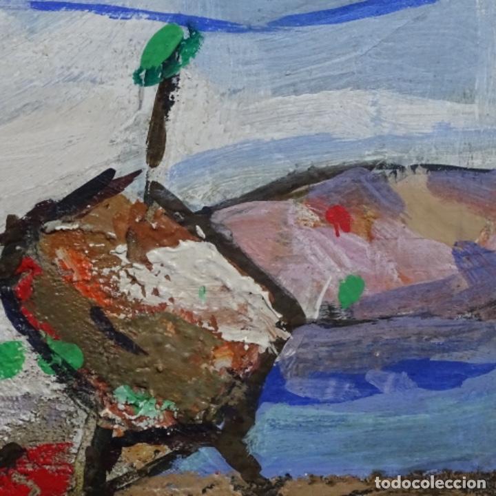 Arte: Oleo sobre tablex de Miquel torne de samir.barco en la arena.enmarcado. - Foto 4 - 182912540