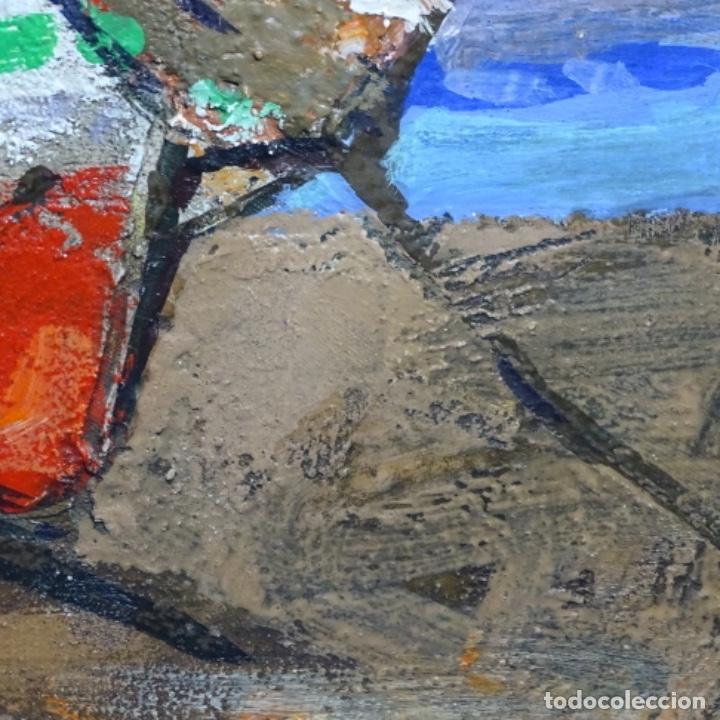 Arte: Oleo sobre tablex de Miquel torne de samir.barco en la arena.enmarcado. - Foto 5 - 182912540