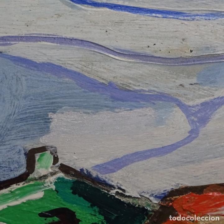 Arte: Oleo sobre tablex de Miquel torne de samir.barco en la arena.enmarcado. - Foto 6 - 182912540
