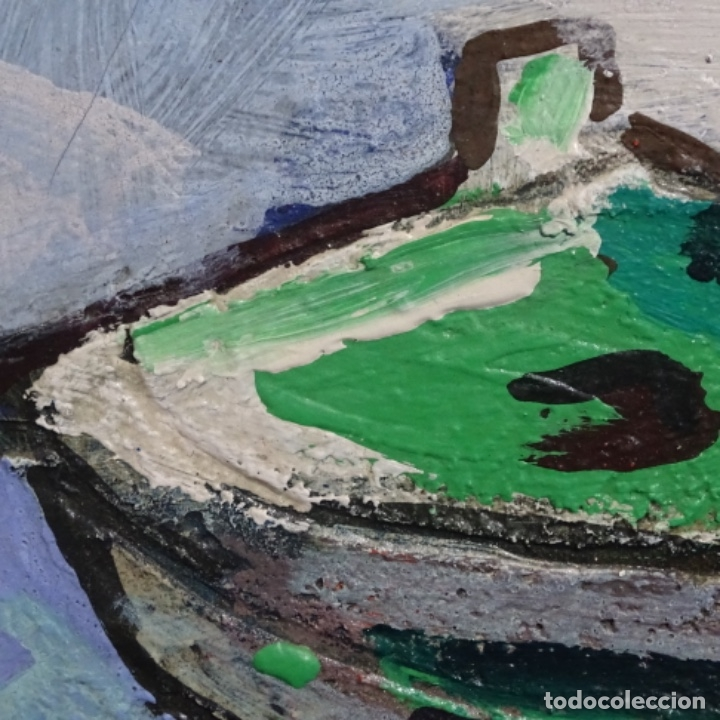 Arte: Oleo sobre tablex de Miquel torne de samir.barco en la arena.enmarcado. - Foto 7 - 182912540