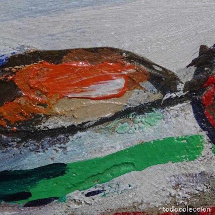 Arte: Oleo sobre tablex de Miquel torne de samir.barco en la arena.enmarcado. - Foto 8 - 182912540