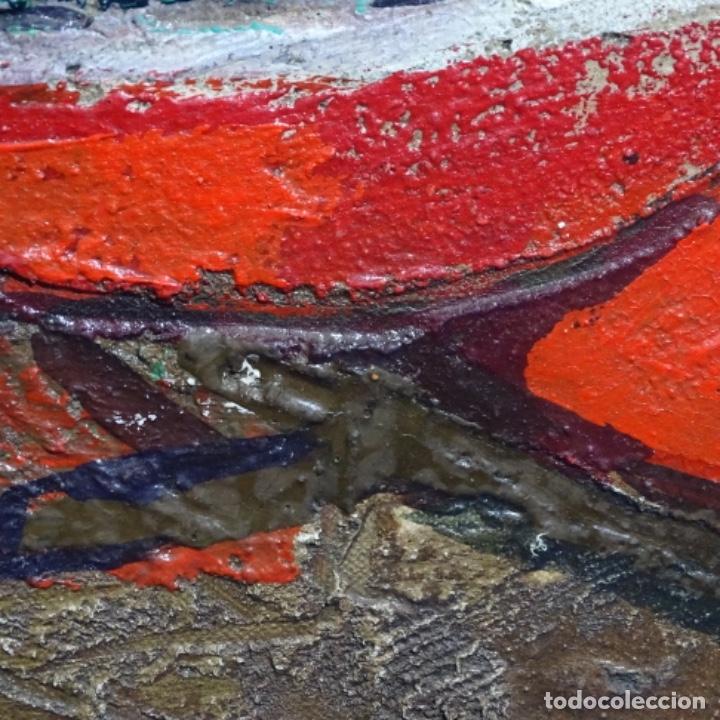 Arte: Oleo sobre tablex de Miquel torne de samir.barco en la arena.enmarcado. - Foto 9 - 182912540