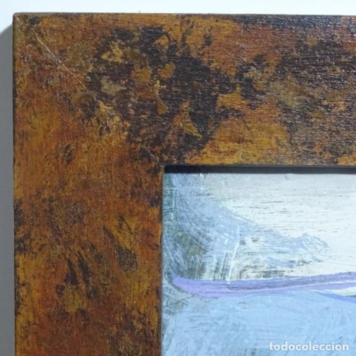 Arte: Oleo sobre tablex de Miquel torne de samir.barco en la arena.enmarcado. - Foto 11 - 182912540