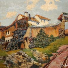 Arte: FIRMADO FELDER-BRUN. OLEO SOBRE TELA DE APROXIMADAMENTE 1920. PAISAJE RURAL. Lote 182941816