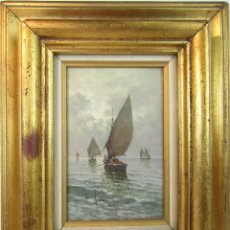 Arte: MARINA OLEO SOBRE TABLA DE RAIMONDO SCOPPA 1810-1890. Lote 182965467
