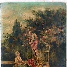 Arte: TABLILLA ÓLEO COSTUMBRISTA. Lote 183014725