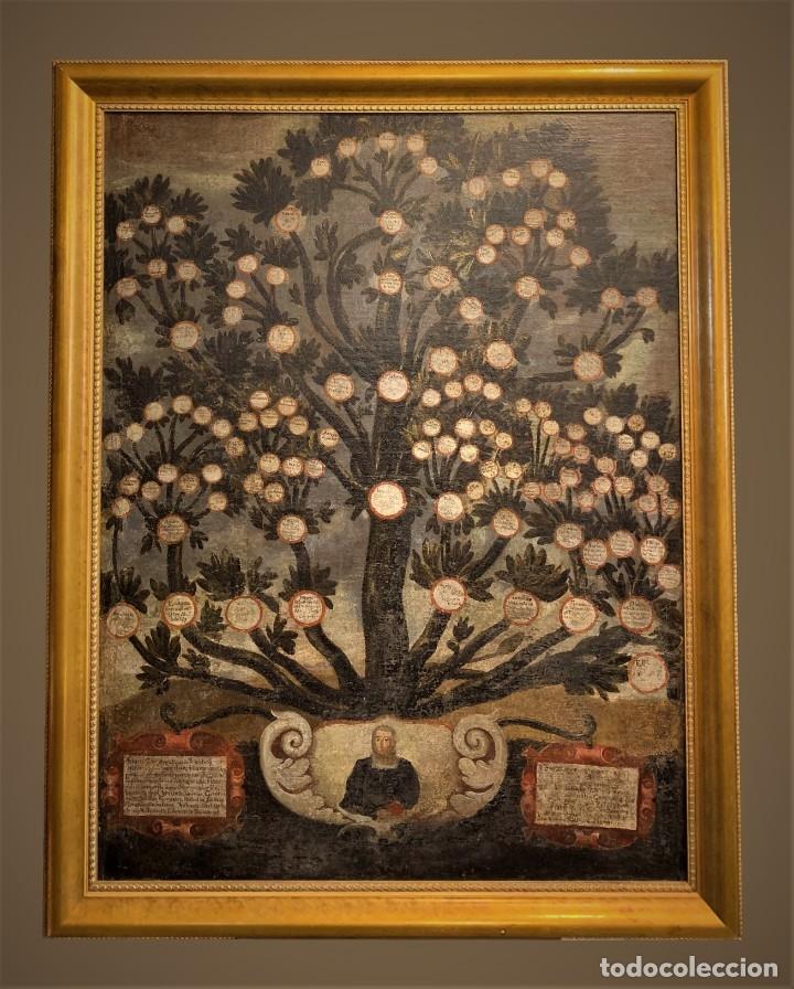 Arte: IMPRESIONANTE ARBOL GENEALOGICO DE FAMILIA NOBLE CASTELLANA, SIGLO XVI, guadalajara - Foto 2 - 183015737