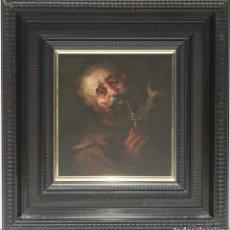 Arte: CARA DE VIEJO - JOSÉ PALOMAR - OLEO SOBRE TABLA - 34X32 CM. Lote 181356382