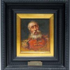 Arte: CARA DE VIEJO - JOSÉ PALOMAR - OLEO SOBRE TABLA - 35X33 CM. Lote 181356402