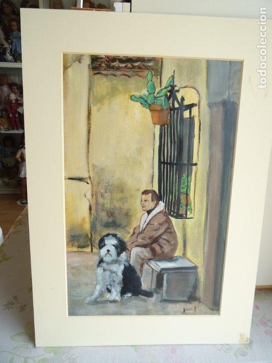 Arte: ACRILICO SOBRE PAPEL CANSON - DESCANSO - ARTISTA FERRÉS M. - Foto 2 - 183125276
