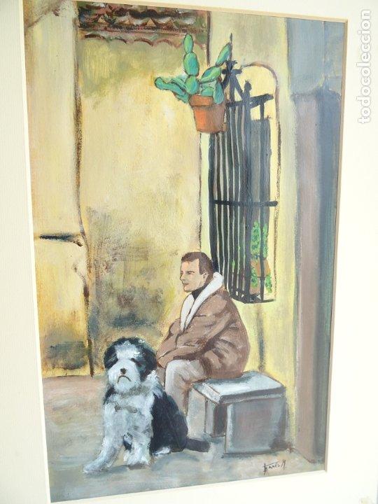 ACRILICO SOBRE PAPEL CANSON - DESCANSO - ARTISTA FERRÉS M. (Arte - Pintura Directa del Autor)