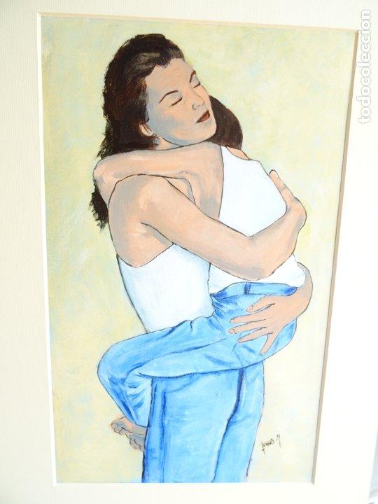 ACRILICO SOBRE CARTULINA - UY MI NIÑO - ARTISTA FERRÉS M. (Arte - Pintura Directa del Autor)