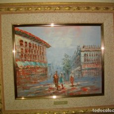 Arte: OLEO SOBRE TABLILLA FIRMADO BURNETT , ( 41 X 33 CTMS) CON MARCO. Lote 183197937