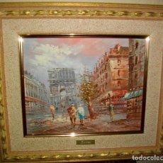 Arte: OLEO SOBRE TABLILLA FIRMADO BURNETT , ( 41 X 33 CTMS) CON MARCO. Lote 183198003