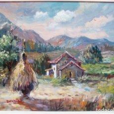 Arte: CUADRO PAISAJE AL ÓLEO SOBRE LIENZO Y ENMARCADO. FIRMADO DANFORD.. Lote 183279527