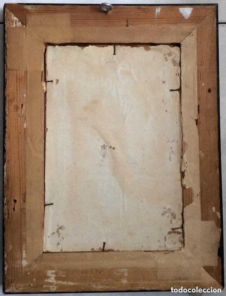 Arte: SIGLO XVIII,san Juan Nepomuceno, patrón de los confesores,ÓLEO SOBRE CRISTAL 26X21 Cm - Foto 4 - 183290650