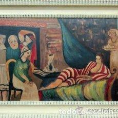 Arte: KADAR BELA, INTERIOR CON ODALISCA. CUADRO AL OLEO. FIRMADO. Lote 183315638