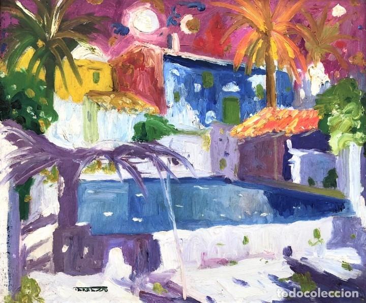 CASIMIR MARTÍNEZ TARRASSÓ (BARCELONA, 1898-1980) - BADALONA - ÓLEO - PUBLICADO (Arte - Pintura - Pintura al Óleo Contemporánea )