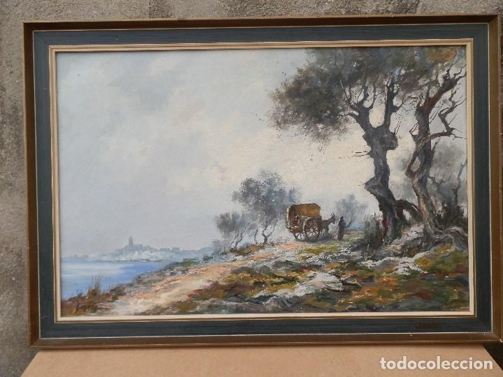LLUÍS BONADA BERENGUER. PINTOR NACIDO EN SABADELL EN 1908. CUADRO AL ÓLEO SOBRE TELA. ENMARCADO. (Arte - Pintura - Pintura al Óleo Contemporánea )
