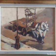 Arte: CUADRO ÓLEO SOBRE TABLA. ENMARCADO. PINTOR MALAGUEÑO PEDRO MENDOZA. AÑO 1969.. Lote 183335103