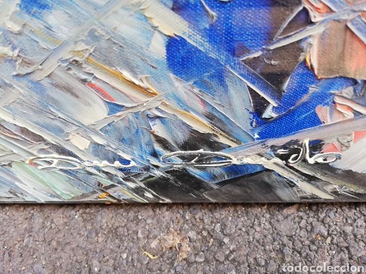 Arte: Oleo espátulado gran formato... Pintor italiano.. - Foto 3 - 183346022