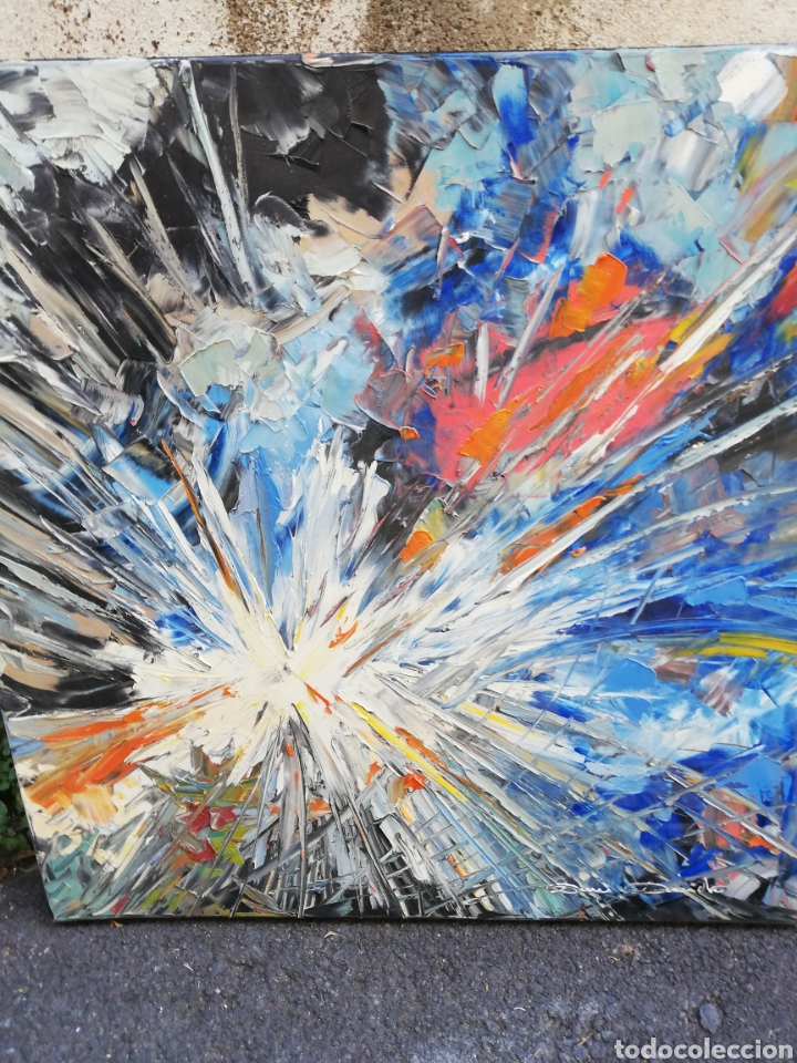OLEO ESPÁTULADO GRAN FORMATO... PINTOR ITALIANO.. (Arte - Pintura - Pintura al Óleo Moderna sin fecha definida)