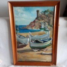 Arte: ÓLEO EN TABLA, AUTOR SALVADOR FERRE I ANDREU.. Lote 183371771