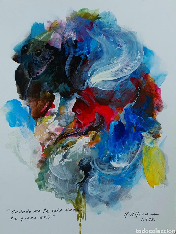A. HIJOSA, PRECIOSA PINTURA ORIGINAL, TITULADA Y FIRMADA. (Arte - Pintura - Pintura al Óleo Contemporánea )
