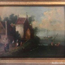 Arte: ÓLEO SOBRE TABLA S.XVII-XVIII. ESCUELA HOLANDESA.. Lote 183381996