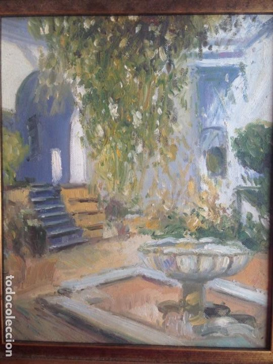 PINTURA AL OLEO CON MARCO 37 CTM DE ALTO X 23 ANCHO (Arte - Pintura - Pintura al Óleo Moderna sin fecha definida)