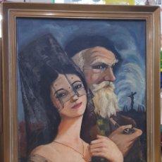 Arte: OLEO SOBRE TABLA ANONIMO AÑOS 50. Lote 183416341