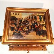 Arte: OLEO SOBRE LIENZO ENMARCADO. RASTRO. RIBERA DE CURTIDORES. MADRID. FIRMADO. SIGLO XIX.. Lote 183421322