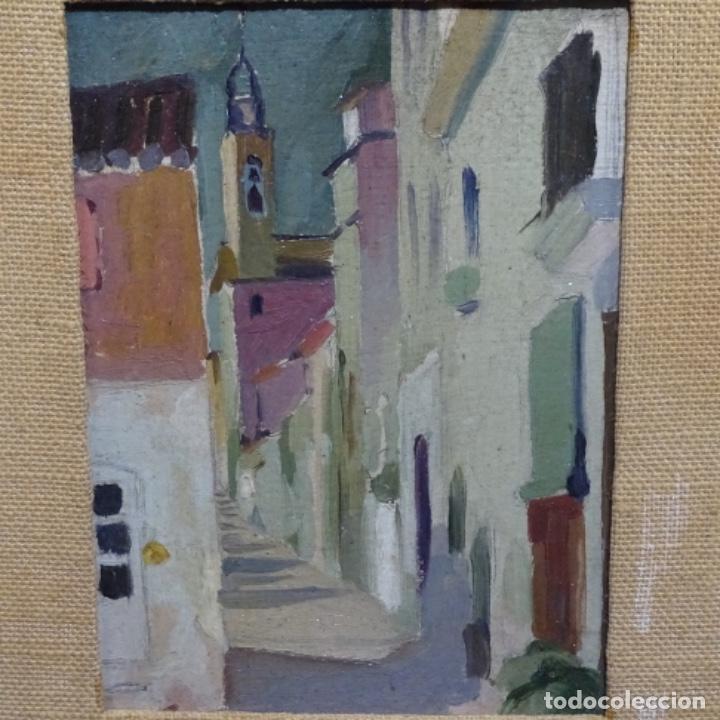 Arte: Excelente óleo sobre cartón de escuela catalana.buen trazo.principio siglo xx. - Foto 2 - 183430926