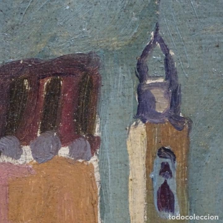 Arte: Excelente óleo sobre cartón de escuela catalana.buen trazo.principio siglo xx. - Foto 5 - 183430926