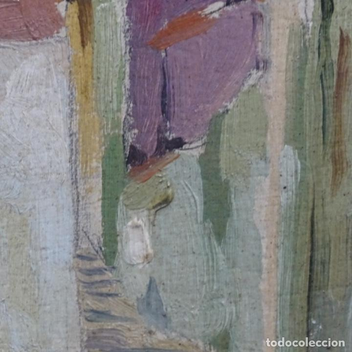 Arte: Excelente óleo sobre cartón de escuela catalana.buen trazo.principio siglo xx. - Foto 7 - 183430926