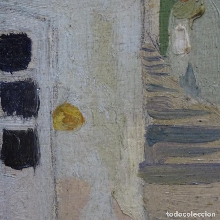 Arte: Excelente óleo sobre cartón de escuela catalana.buen trazo.principio siglo xx. - Foto 8 - 183430926