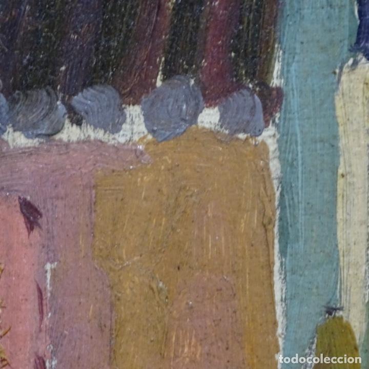 Arte: Excelente óleo sobre cartón de escuela catalana.buen trazo.principio siglo xx. - Foto 9 - 183430926