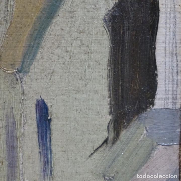 Arte: Excelente óleo sobre cartón de escuela catalana.buen trazo.principio siglo xx. - Foto 10 - 183430926