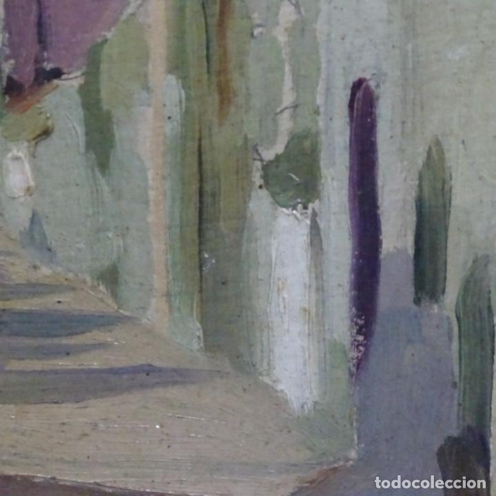 Arte: Excelente óleo sobre cartón de escuela catalana.buen trazo.principio siglo xx. - Foto 11 - 183430926